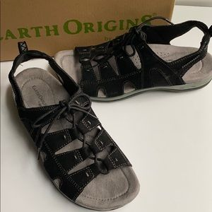 Earth Origins Suede Lace-up Sandals